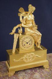 Empire Bronze Pendule Psyche mit