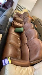 Leder Sofa - 3 Teile - L25095