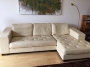 Sofa und 2 Sessel Leder