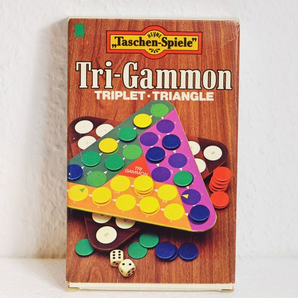 Tri-Gammon Heyne Verlag 3 Brettspiele
