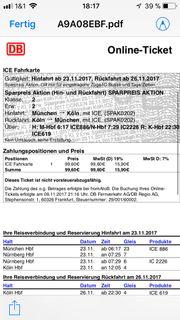 DB-Ticket München/