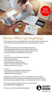 MitarbeiterIn im Home-Office geringfügig
