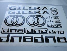 Mofas, 50er Kleinkrafträder - Gilera DNA Aufkleber Set verschiedene