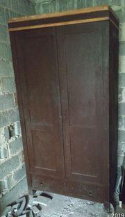 alter Schrank Massivholzschrank Büroschrank