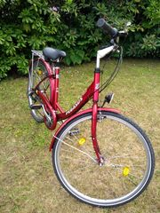 Rotes Pegasus Damen-Fahrrad Solero