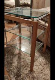 Glastisch 3 Ebenen