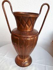Kupfervase mit 2 Henkel 60