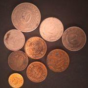 Konvolut 9 verschiedene Münzen aus