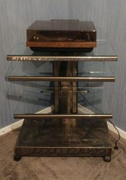 HiFi-Rack Glas Metall
