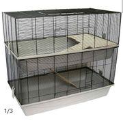 Käfig 2-stöckig Nagerkäfig Mäusekäfig Kleintierkäfig