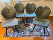 Sitzgruppe aus vier Stühlen Esszimmer