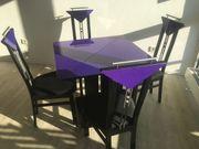 Wohnzimmertisch ausziehbar mit 4 Stühlen