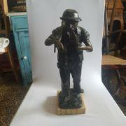Bronze Figur der Sensenmann Bildhauer