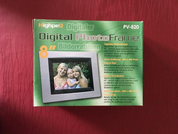Digitaler Bilderrahmen 8 Zoll incl