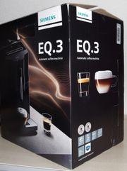 SIEMENS EQ 3 Kaffeevollautomat Titan-Silber