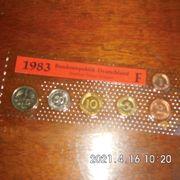 DM Kursmünzen 1983 F Stempelglanz