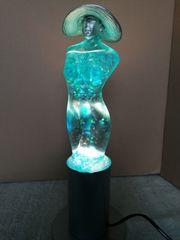 Glitzerlampe Leuchte Flitterlady Glaslampe mit