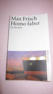 Max Frisch Homo Faber Suhrkamp