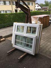 Konstofffenster mit Sproßen innenliegend
