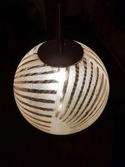Deckenlampe - 70er Jahre - Eisglas