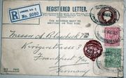 England 1913 Registered Letter Cover