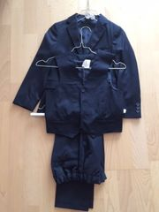 Kinder Anzug dunkelblau Gr 128