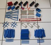 Lego Eisenbahn 70er blau Schienen