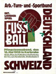 DFB 1929 Deutschland-Schweiz in Karlsruhe