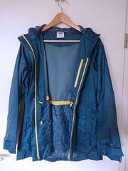 Blaue Regenjacke Damen Gr S