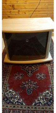 Fernseher Schränkchen mit Glastür und