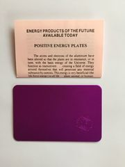 Teslaplatte im Visitenkartenformat