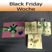 Selbst-gebasteltes Geschenk Box Black Friday