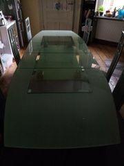 Massiver edler ganzglas Küchentisch 270cm