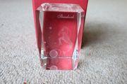 Verkaufe Kristall Glasblock 3D-Laserwürfel Steinbock