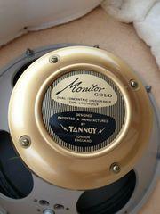 Ein Paar Tannoy 15 Monitor-Goldlautsprecher -