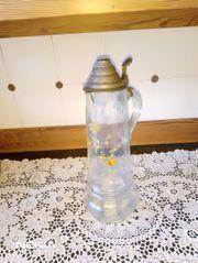 Dachbodenfund Glas- Reservistenkrug Kanne mit