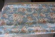 Vorhangstoff blau Blumen