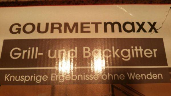 GOURMETmaxx Grill- Backgitter ausziehbar schwarz