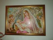 Heiligenbild Mutter mit 4 Kindern