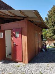 Sanitär Container mit Dach