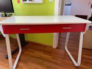 Schreibtisch weiß mit Schubladen