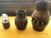 3 Antike Holzradnaben in versch