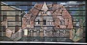 Collage Materialbild Dachziegel Gemälde auf