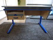 MOLL Hohenverstellbar Schreibtisch - Blau