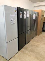 Kühlschränke weiß schwarz rot Silber