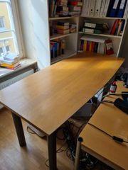 Schreibtisch Birnbaum mit Chrome buche