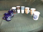 8 Tassen Kaffeebecher wie neu