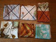 Diverse Tücher Tuch Seide Polyester