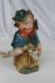 Porzellan Nachtwächter Rauchverzehrer Figur beleuchtet