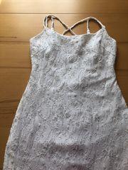 Weißes langes Abendkleid Größe S